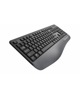 Wireless Multimedia Keyboard & Mouse With Ergonomic Palm-Rest -Black