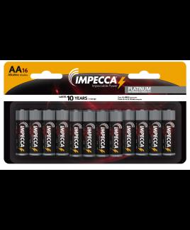 Alkaline AA LR06 Platinum Batteries 16-Pack