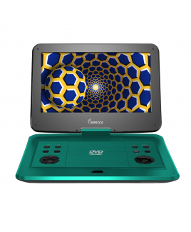 """Impecca 13.3"""" Portable DVD Player with 180-degree Widescreen LCD, Tropical Teal"""