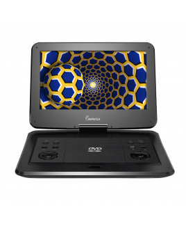Portable DVD Player with 13.3-inch 180-degree Widescreen LCD, Jetblack Glaze
