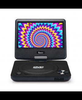 "Impecca 7"" 270° Swivel Screen Portable DVD Player, Black"