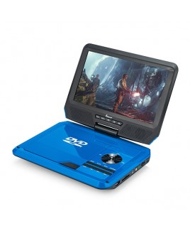 DVP-917 9in 270° Swivel Screen Portable DVD Player, Blue