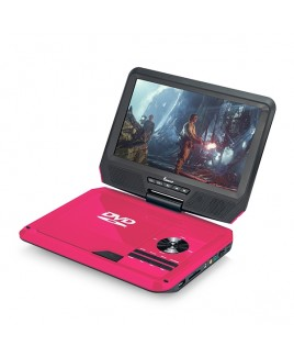 DVP-917 9in 270° Swivel Screen Portable DVD Player, Pink